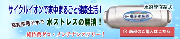 サイクルイオン「電子水装置」の購入