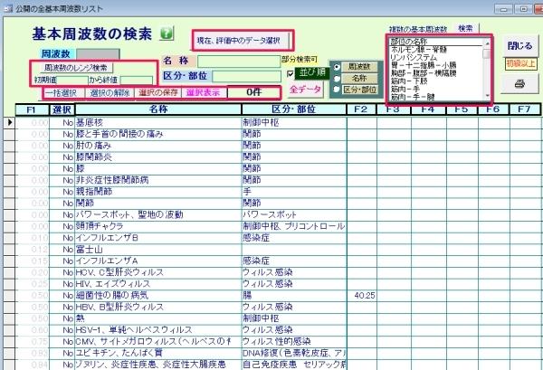周波数データ検索プログラム