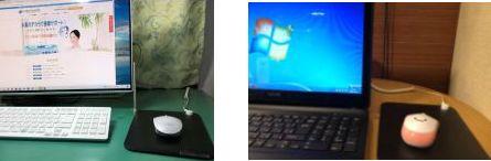 PCでアーシングマウスパッド